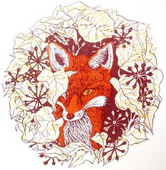 Image of The Urban Fox-hand pulled screen print, edition of 25