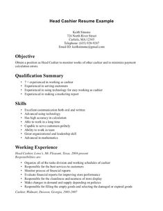 Cashier Resume Examples Cashier Resume Example  Print This Sample And Use It As A Template