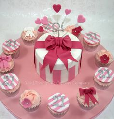 Hat Box Cake with Cupcakes by The Clever Little Cupcake Company (Amanda), via Flickr