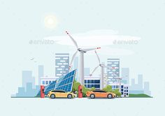 Electric Cars Charging Eco City - Industries Business Download here : https://graphicriver.net/item/electric-cars-charging-eco-city/19479349?s_rank=2&ref=Al-fatih