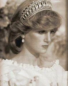April 29, 1983: Princess Diana at a State Banquet at the Sheraton, Auckland.