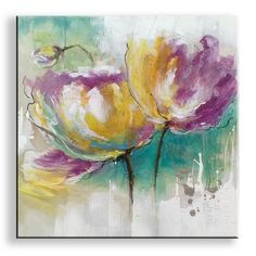 Abstract Flowers, Watercolor Flowers, Watercolor Art, Abstract Art, Abstract Painting Techniques, Vincent Van Gogh, Mixed Media Art, Purple Flowers, Flower Art