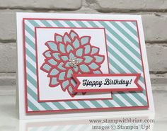May Flowers Framelits Dies, Stampin' Up!, Brian King, birthday card