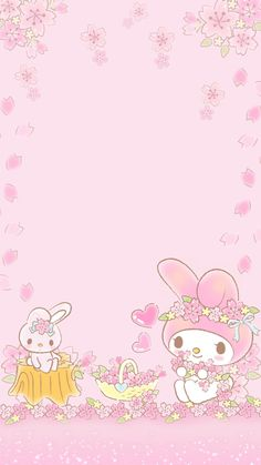 My melody & hello kitty wallpapers