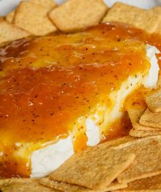 This Hot Jezebel Dip/Sauce recipe is so delicious and full of flavor. It's one o… - Hot Sauce Yummy Appetizers, Appetizers For Party, Appetizer Recipes, Jezebel Sauce, Sauce Recipes, Cooking Recipes, Sweet And Spicy Sauce, Dips, Sauces
