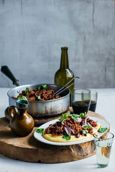 From The Kitchen: Slow-cooked Mexican Pulled Beef & Beans on Soft Cheesy Polenta