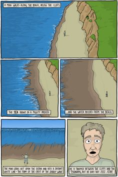 A philosophy webcomic about the inevitable anguish of living a brief life in an absurd world. Also Jokes