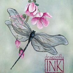 dragonfly/cherry blossom | Tattoo ideas | Pinterest