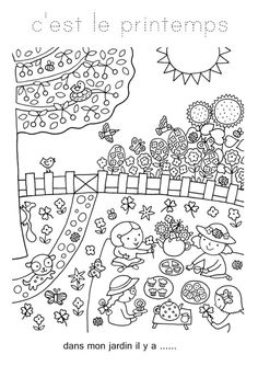 Coloriage De Printemps.28 Meilleures Images Du Tableau Coloriage Printemps Coloring Pages
