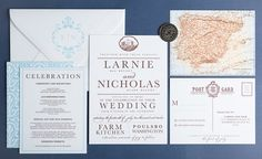 Wedding Invitation - Old World Spanish Collection