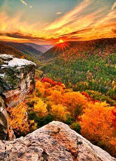 Autumn Sunrise in Appalachia.