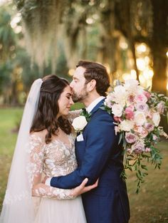 A Florida garden wedding inspired by French impressionist paintings and tea parties Fine Art Wedding Photography, Wedding Photography Inspiration, Wedding Inspiration, Elegant Backyard Wedding, Garden Wedding, Intimate Weddings, Real Weddings, Romantic Wedding Photos, Bride And Groom Pictures