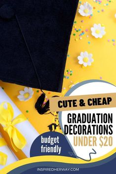 Graduation is a huge milestone for students! And it is important to celebrate graduation to mark these milestones in your student's lives. For some cute and cheap graduation party decorations under $20 check out this list of fun graduation party decor that won't break the bank. #graduation #giftideas