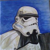 Sand trooper Canvas Custom Canvas, Skull, Fictional Characters, Art, Custom Screens, Art Background, Kunst, Gcse Art, Sugar Skull