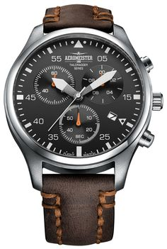 Aeromeister Taildragger Chronograaf horloge - a real stunner! Sport Watches, Cool Watches, Watches For Men, Beautiful Watches, Breitling, Men's Accessories, Luxury Watches, Fashion Watches, Chronograph