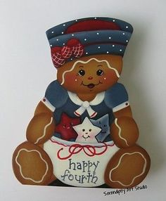 HP-GINGERBREAD-GIRL-HAPPY-FOURTH-4TH-OF-JULY-USA-SHELF-SITTER