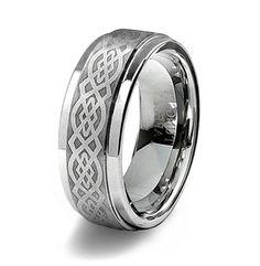 Mens Tungsten Celtic Wedding Bands - Wedding and Bridal Inspiration Celtic Wedding Bands, Tungsten Wedding Bands, Wedding Rings, Celtic Knot Ring, Rings For Men, Engagement Rings, Gemstones, Bridal, Inspiration