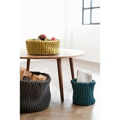 Knitted Baskets by ferm living - Spark Living - online boutique for unique home decor, gifts and accessories $104.50