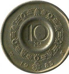 Norway Norwegian 10 Ten Krone Coins Europe Coins For Sale, Norway, Europe