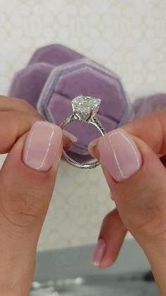 Engagement Ring Rose Gold, Princess Cut Engagement Rings, Beautiful Engagement Rings, Halo Diamond Engagement Ring, Vintage Engagement Rings, Solitaire Rings, Cushion Cut Engagement Rings, Solitaire Diamond, Diamond Rings