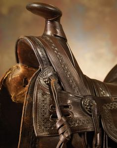 Detail of antique saddle by F.A. Meanea
