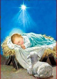 Jesus is born in Luke Mary and Joseph have to travel to Jerusalem. Jesus is born in a barn. He is placed in a manger.
