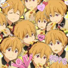 Fan Art of Nagisa is a cutie patootie for fans of Free! Cute Anime Boy, I Love Anime, Anime Boys, Nagisa Free, My Little Pony Unicorn, Swimming Anime, Makoharu, Makoto Tachibana, Free Eternal Summer