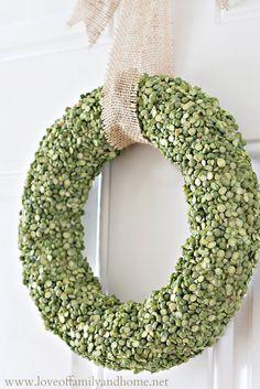 split pea spring wreath #spring #wreath