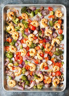 Sheet Pan Roasted Shrimp & Veggies
