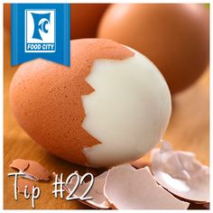 For hard boiled eggs that are easy to peel, add a teaspoon of baking soda to the water when you boil.