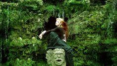 redhead fairy, green dress, fairy dress