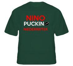 Nino Niederreiter Minnesota Puckin Hockey T Shirt Wild Hockey, Hockey Mom, Hockey Stuff, Dare Shirt, T Shirt, Cool Outfits, Summer Outfits, Summer Clothes, Ice Games