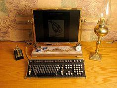 This vintage computer setup.