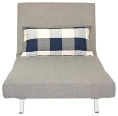 Savion Convertible Accent Chair Bed, Grey - contemporary - Futons - Cortesi Home