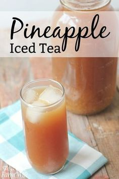 Iced Tea this easy pineapple iced tea recipe will hit the spot on a hot summer day!this easy pineapple iced tea recipe will hit the spot on a hot summer day! Fruit Drinks, Smoothie Drinks, Non Alcoholic Drinks, Healthy Drinks, Healthy Nutrition, Beverages, Tea Drinks, Cold Drinks, Eat Healthy