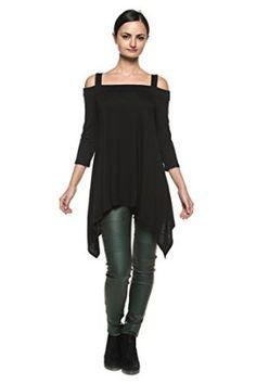 Women's Open Off Shoulder Gypsy Boho Trapeze Handkerchief Hem Top Shirt Blouse at Amazon Women's Clothing store: