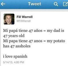 Fill Werrel - Tweet I Love Spanish XD
