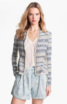 Rebecca Taylor Peplum Tweed Jacket available at #Nordstrom