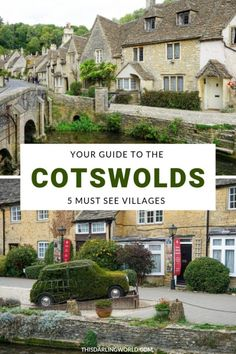 Cotswolds Villages: 5 Places to Visit in the Cotswolds The Cotswolds is one of England's most picturesque areas with miles and miles of charming villages that are a must to visit. Europe Travel Tips, Places To Travel, Places To Visit, Travel Destinations, Travel Things, Travel Goals, Budget Travel, Arlington Row, Bourton On The Water