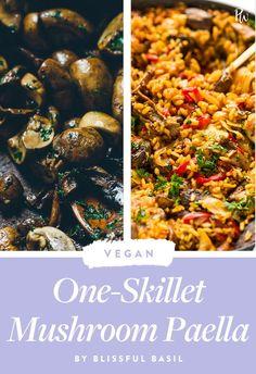 Life Hacks : 15 One-Skillet Vegan Dinners to Try Tonight Easy Vegetarian Dinner, Best Vegetarian Recipes, Easy Dinner Recipes, Vegetarian Meals, Dinner Ideas, Paella, Vegan Dinners, Healthy Dinners, One Pot Dinners