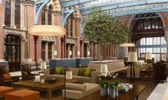lobby at St Pancras Hotel