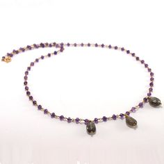 Items similar to Amethyst Rosary Necklace on Etsy Rosary Necklace, Beaded Necklace, Necklaces, Pendant Necklace, Bracelets, Amethyst, Pendants, Stone, Silver