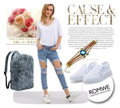 """ROMWE 8/9"" by melissa995 ❤ liked on Polyvore featuring Envi"