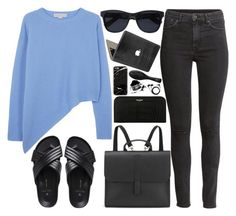 """""""246. Morning Rush"""" by ass-sass-in ❤ liked on Polyvore featuring STELLA McCARTNEY, H&M, Valentine Goods, Danielle Foster, Anine Bing, Yves Saint Laurent and Sennheiser"""
