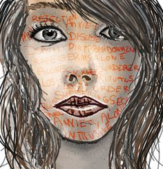 this young artist accurately captures the pain and anxiety that OBSESSIVE-COMPULSIVE DISORDER  causes.        by ~emaleexrose   http://anxietysocialnet.com
