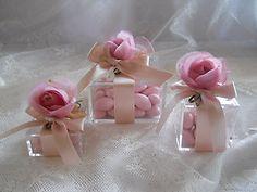 Bomboniera scatola in plexiglass con fiori 22H - 22H1 - 22H2 linea fiori matrimonio