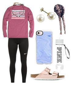 """"" by kaelyn-grace-1 on Polyvore featuring NIKE, Hollister Co., Birkenstock and Casetify"