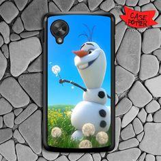 Olaf Playing Flower Dandelion Nexus 5 Black Case