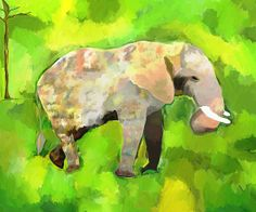 Elephant 4 by Jeanne Fischer, a digital painting on Fine Art America. http://fineartamerica.com/featured/elephant-4-jeanne-fischer.html