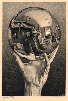 He was dismissed by the art world and venerated by mathematicians … he rejected both Mick Jagger's and Stanley Kubrick's attempts to schmooze him. So who was the mysterious MC Escher, master of illusion? Op Art, Reflection Art, Escher Art, Amazing Art, Dutch Artists, Art, Illusion Art, Lithograph, Art World